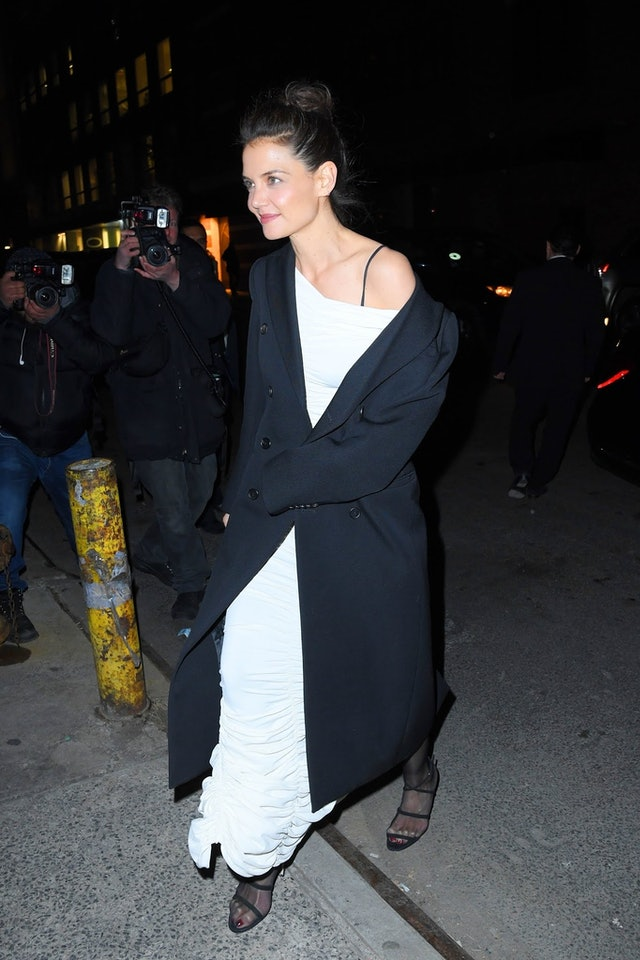 Katie Holmes' bun at the AAA Arts Awards was casual, yet chic