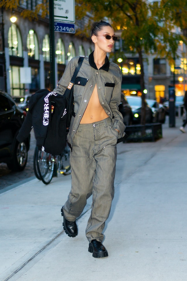 Bella Hadid Low-Rise Pants