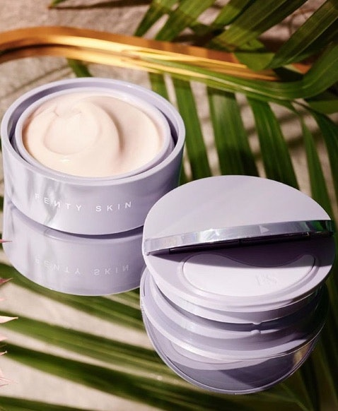 Fenty Skin Instant Reset Overnight Recovery Gel-Cream in jar.
