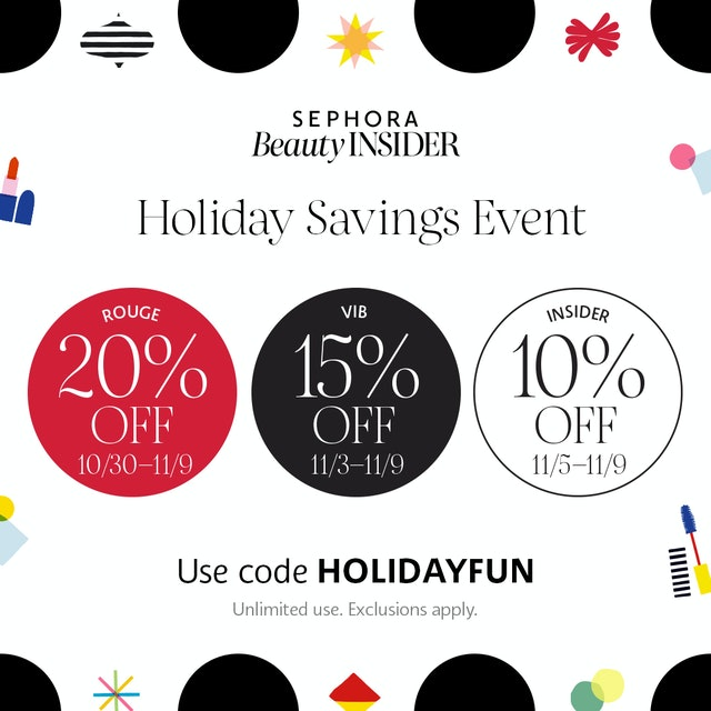 Sephora's Holiday Savings Event for Beauty Insiders.
