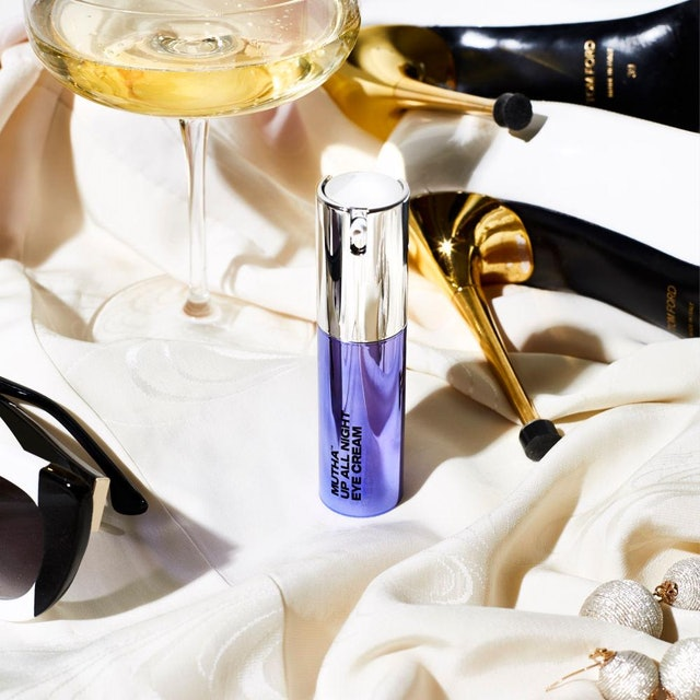 New Mutha Skin Care Products: Up All Night Eye Cream campaign imagery.