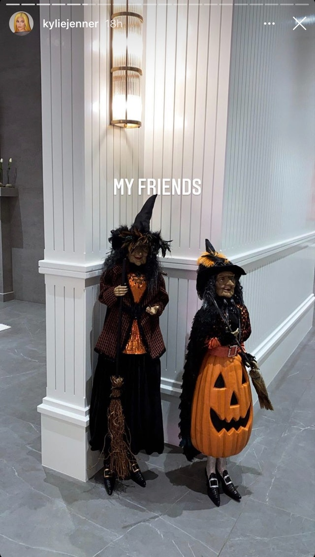 Kylie Jenner shared so many easy Halloween decor ideas on her Instagram
