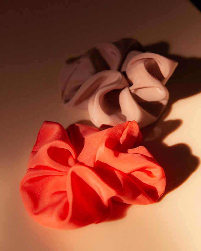 Dieux's scrunchies are made of recycled silk.