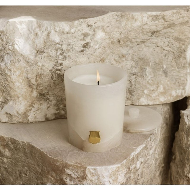 Trudon's alabaster collection draw on Greek, Roman, and Egyptian influences.