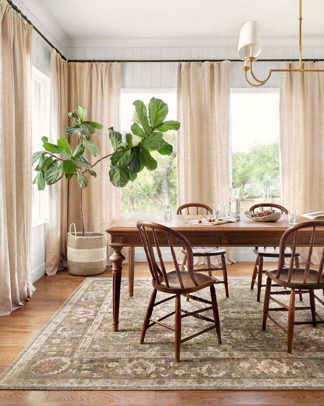 The Chris Loves Julia x Loloi rug collab includes many classic, traditional styles