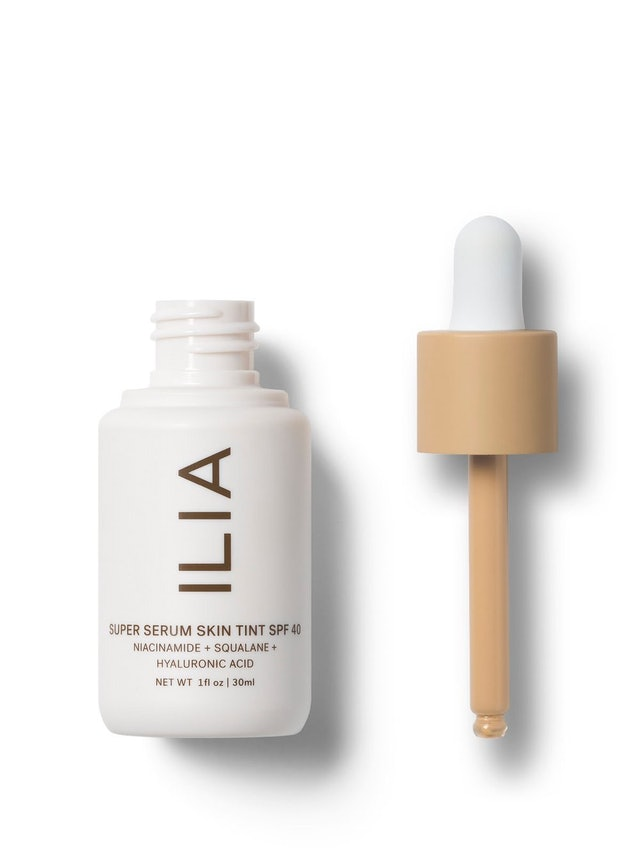 ILIA's new Super Serum Skin Tint SPF 40 in packaging.