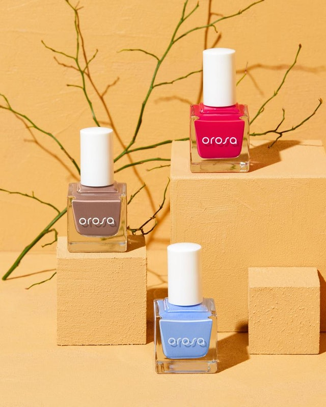Orosa's new Desert Garden nail polish collection introduces an untraditional spring palette