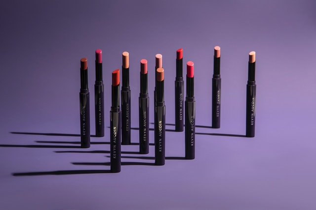 Multiple shades of Kevyn Aucoin's Unforgettable Lipstick.