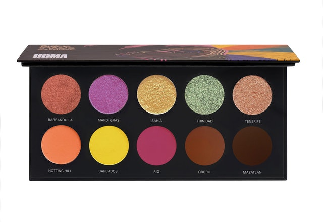 The eyeshadow palette from UOMA Beauty's Black Magic Carnival Collection.