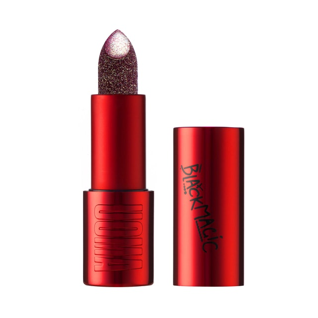 Lipstick from UOMA Beauty's Black Magic Carnival Collection.