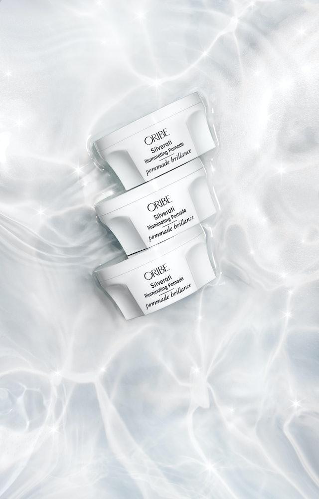 Oribe's new Silverati Illuminating Treatment Masque and Illuminating Pomade.