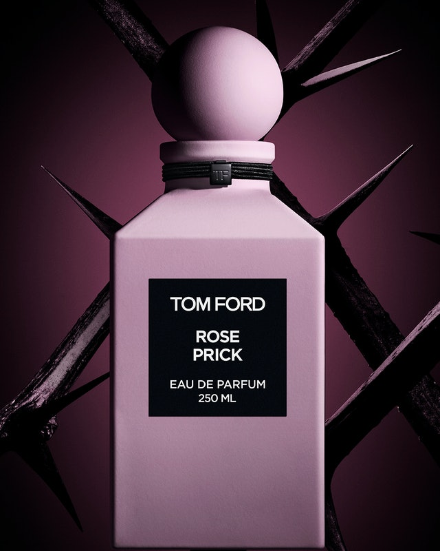 Campaign image for Tom Ford's new Rose Prick fragrance.