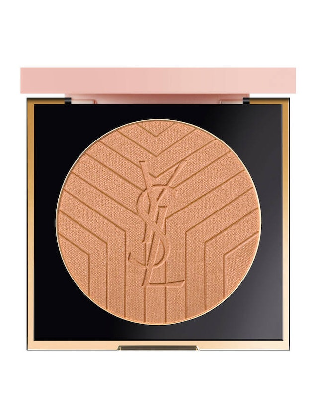 YSL Beauty's new Touche Éclat 3D All Over Glow Powder in compact.
