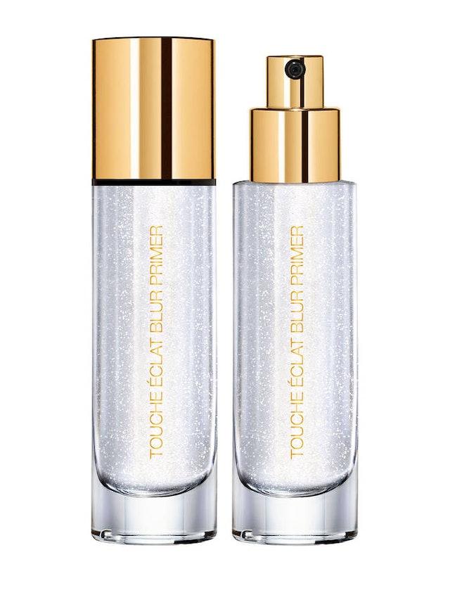 YSL Beauty's new Touche Éclat Blur Primer Silver in bottle.