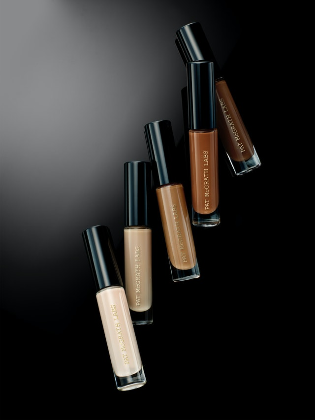 Five shades from Pat McGrath Labs' Sublime Perfection Concealer System.