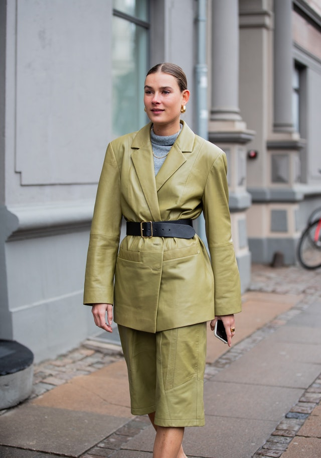 Green Leather Culottes