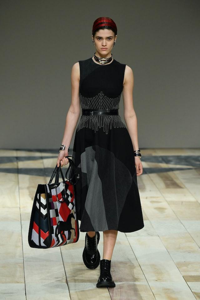 Alexander McQueen fall 2020 patchwork tote bag.
