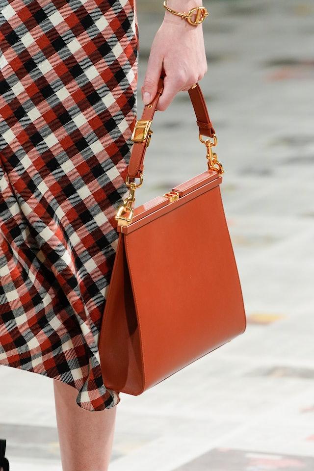 Christian Dior fall 2020 handbag trend.