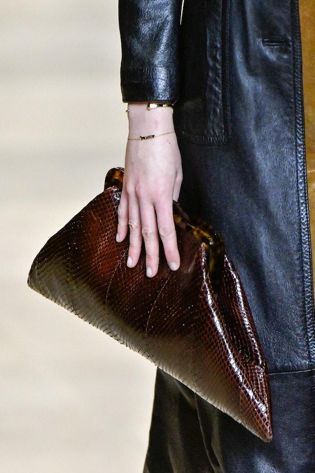 Celine fall 2020 trapezoid handbag.