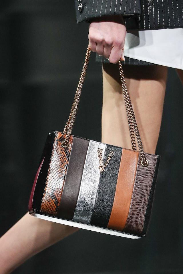 Versace fall 2020 patchwork handbag.