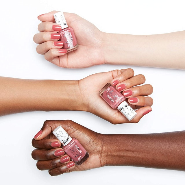 Essie's new color Satin Slip from the Originals Remixed collection is a matte dusty rose color