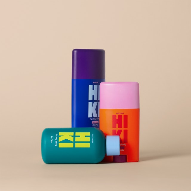 Deodorant and other products from new body-care brand HIKI.