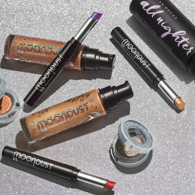 Urban Decay's new Moondust launch includes more glitter eyeshadows, a body illuminizer, and lipsticks