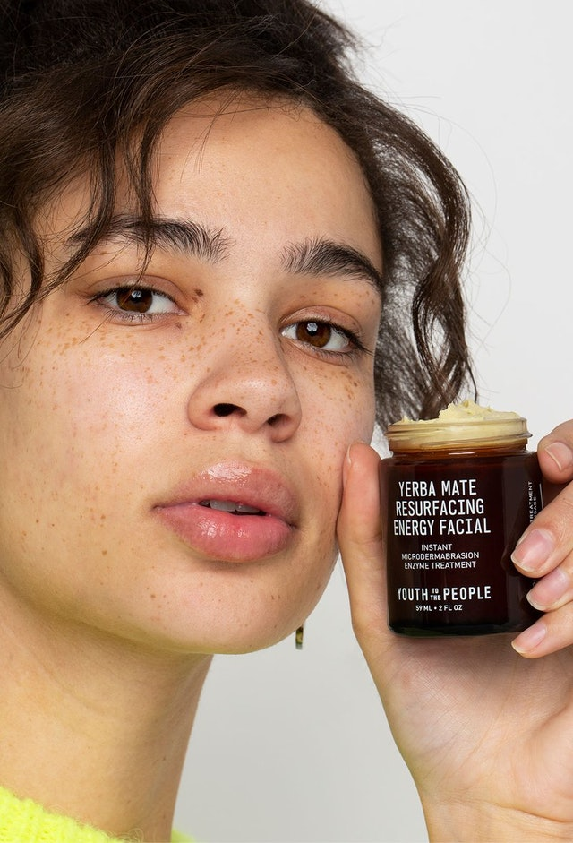 Youth To The People's Yerba Mate Resurfacing Energy Facial in jar.