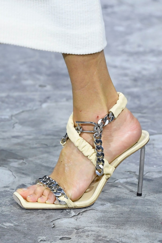 Off-White Chain Heels