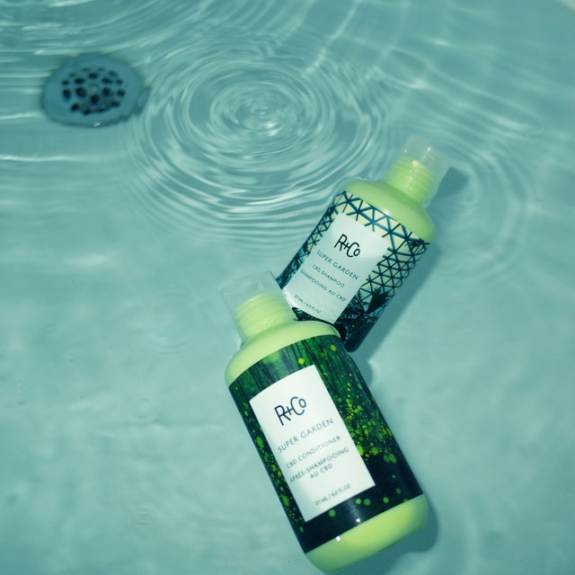 The new CBD-infused shampoo and conditioner from R+Co are formulated to also help with hair growth.