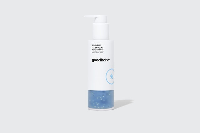 New beauty brand Goodhabit tackles blue light exposure on skin with the rescue me clean scene micellar gel