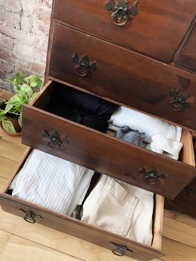 Drawer of Folded Clothes