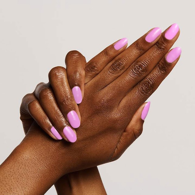 Fierce & Loving is a refreshingly bold neon lilac color.