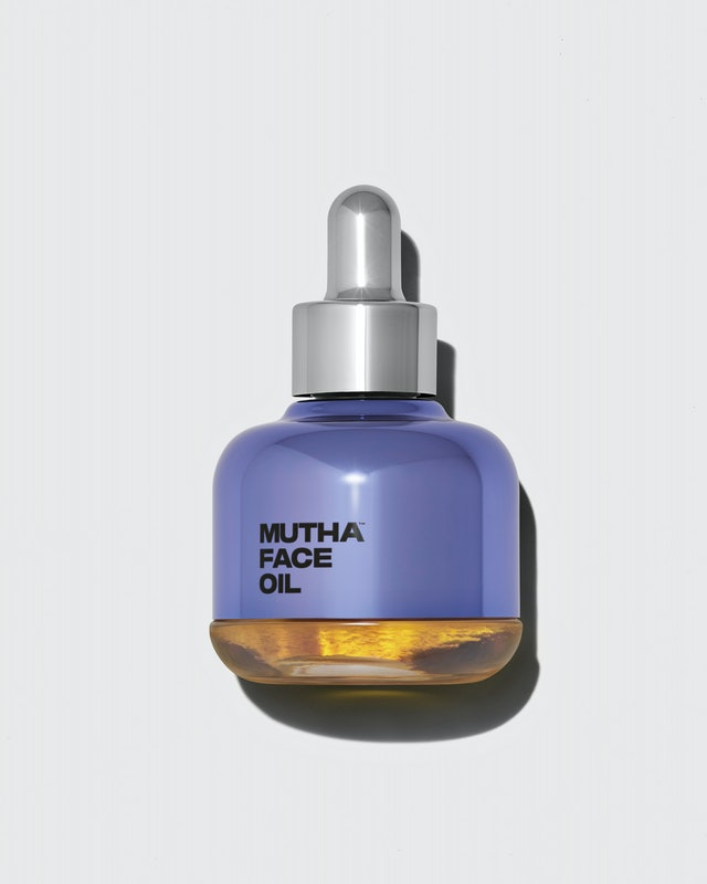 Bottle of MUTHA Face Oil.