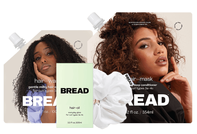 Products for new haircare brand BREAD.