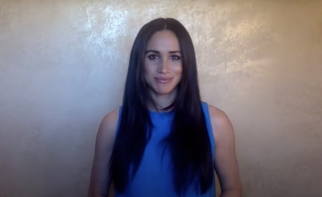 Meghan Markle was featured in Girl Up's virtual Leadership Summit with long, face-framing layers
