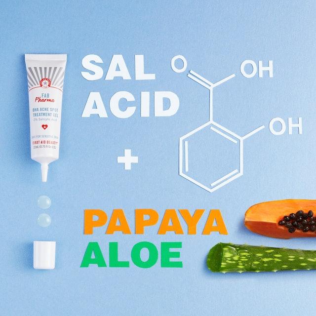 First Aid Beauty FAB Pharma BHA Acne Spot Treatment Gel ingredients.