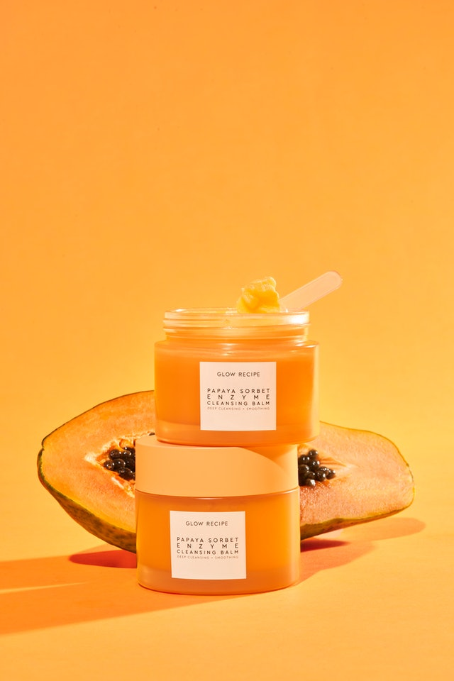 Glow Recipe's Papaya Sorbet Enzyme Cleansing Balm puts to use the many skin-loving enzymes of the fruit