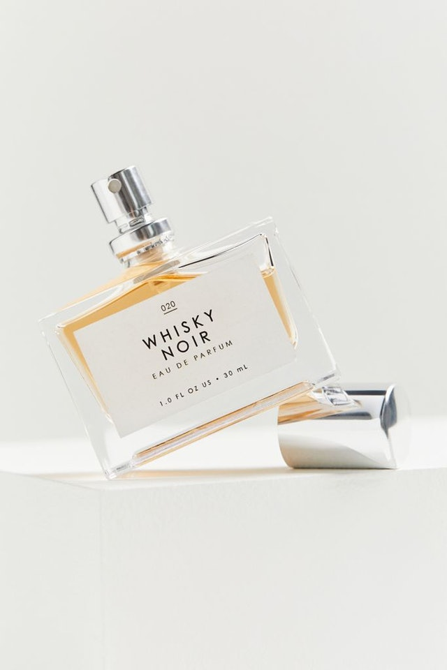 Urban Outfitters' Gourmand Whiskey Noir fragrance is an affordable fall fragrance staple