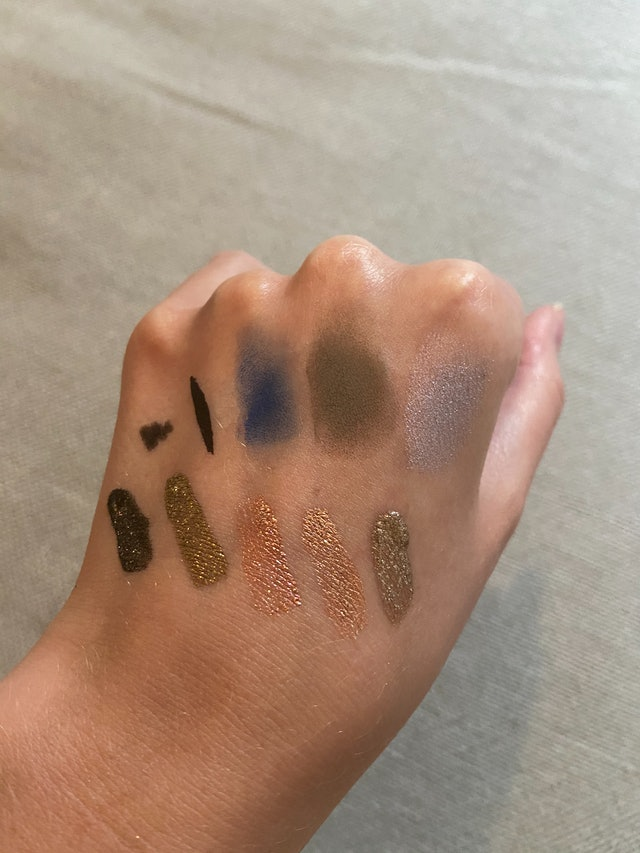 Product swatches of ONE/SIZE's new Visionary Collection