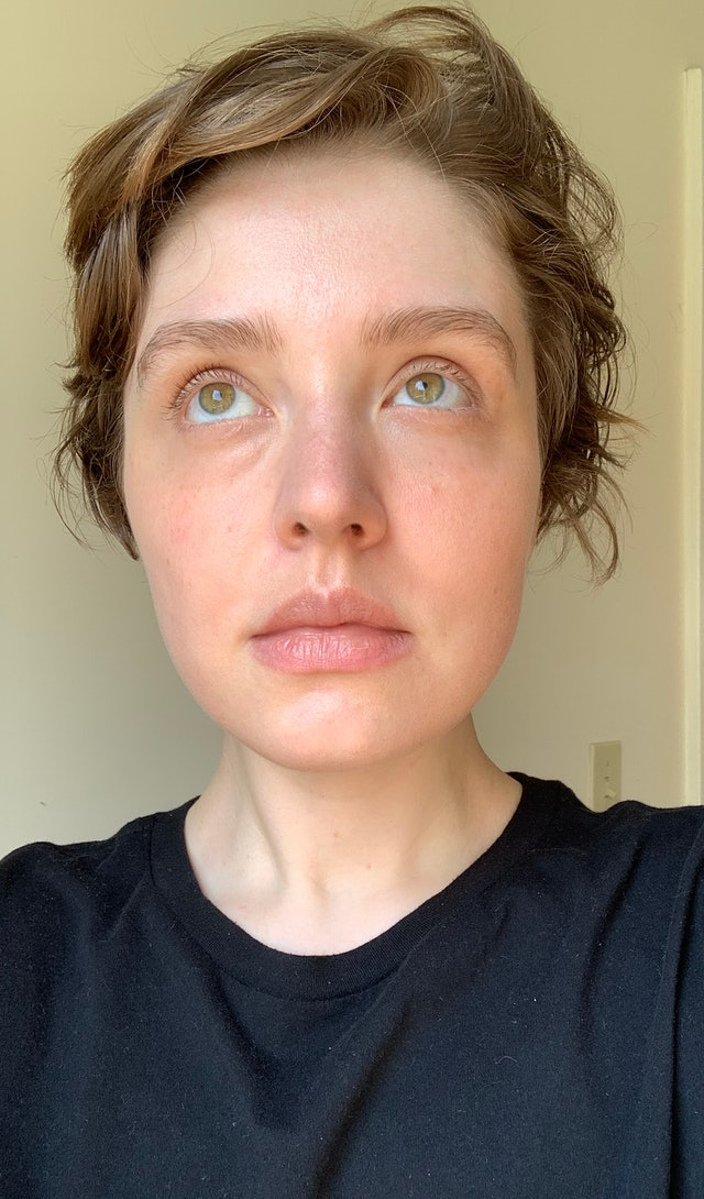 Hourglass Cosmetics Unlocked Instant Extensions Mascara swatching, before and after.