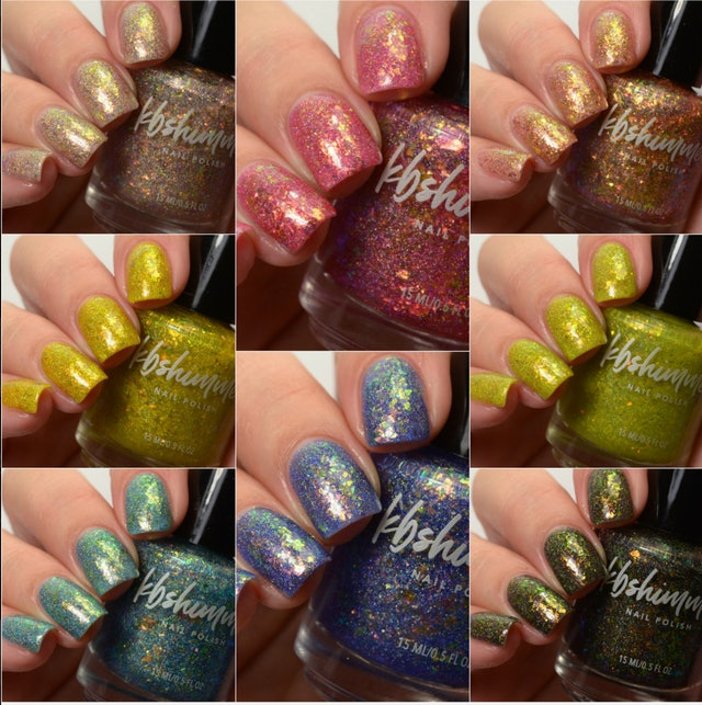 KBShimmer's newest Endless Summer collection features an array of jelly finishes packed with glitter.