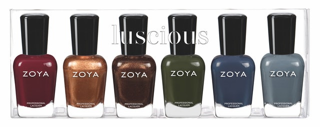 The fall shades in Zoya's Luscious collection include deep, rich colors