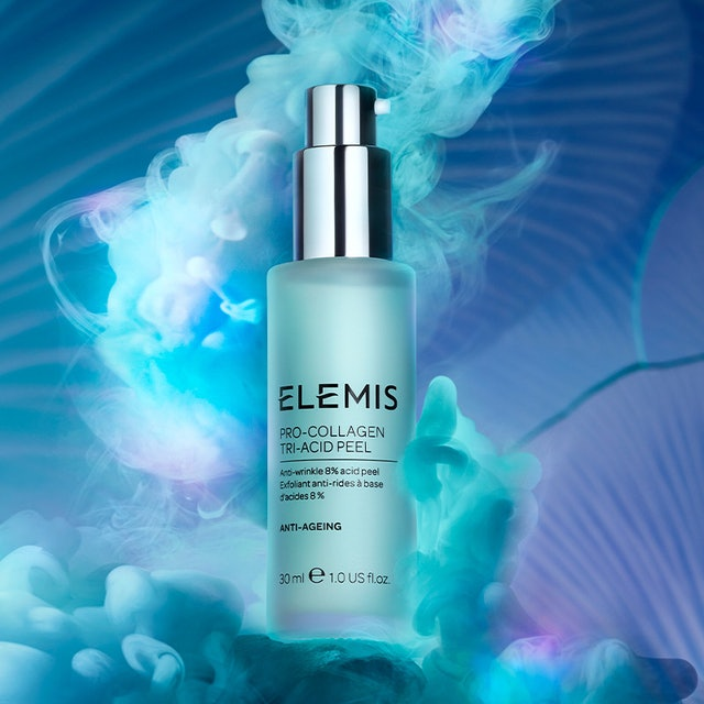 Campaign imagery for the ELEMIS Pro-Collagen Tri-Acid Peel.