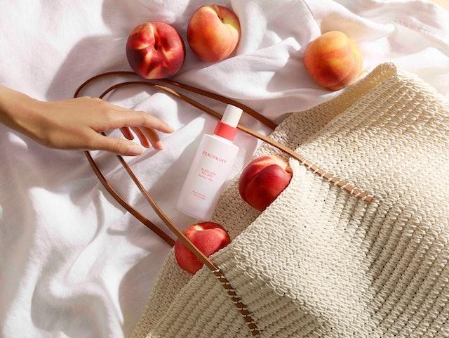 Peach & Lily Glass Skin Veil Mist in bottle.