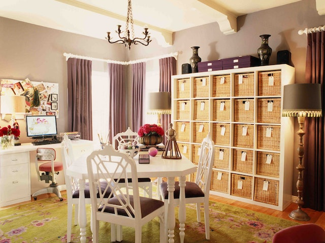 Refresh your home office for summer with pretty organization