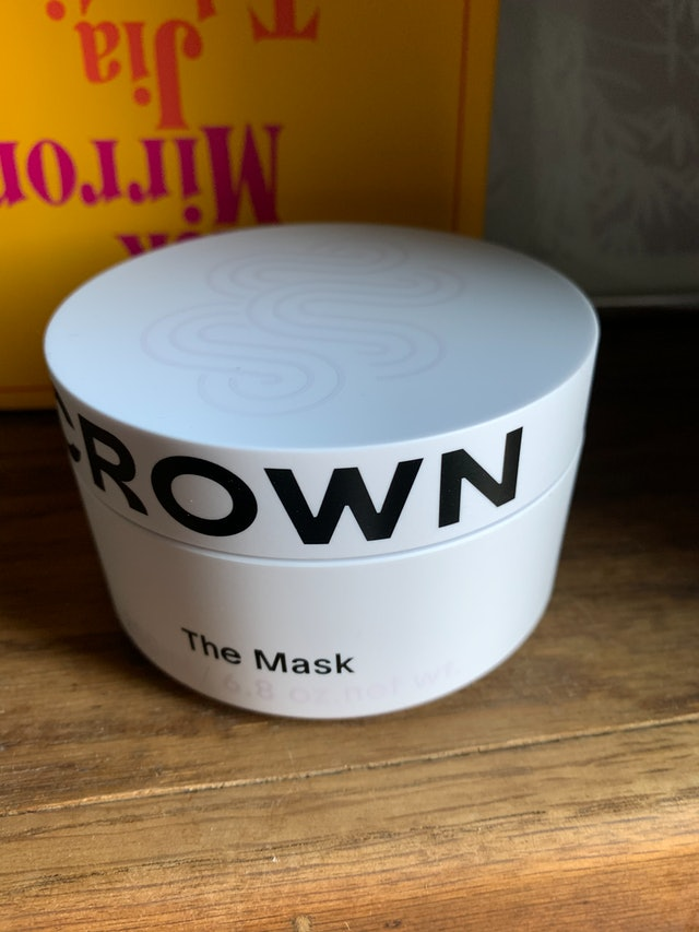 Packaging for Crown Affair's The Renewal Mask.
