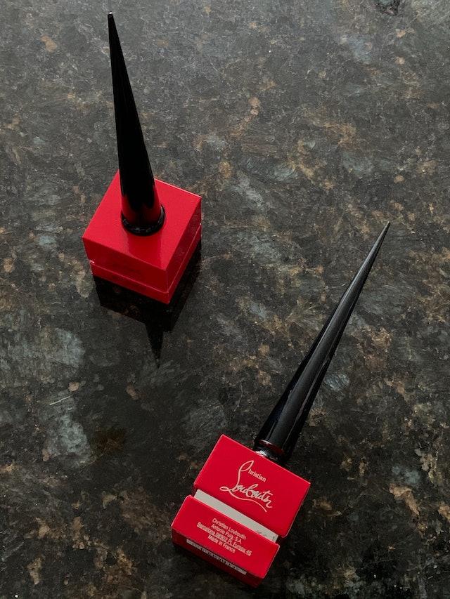 Christian Louboutin Beauty Matte Fluids nail review: new nail polish packaging.