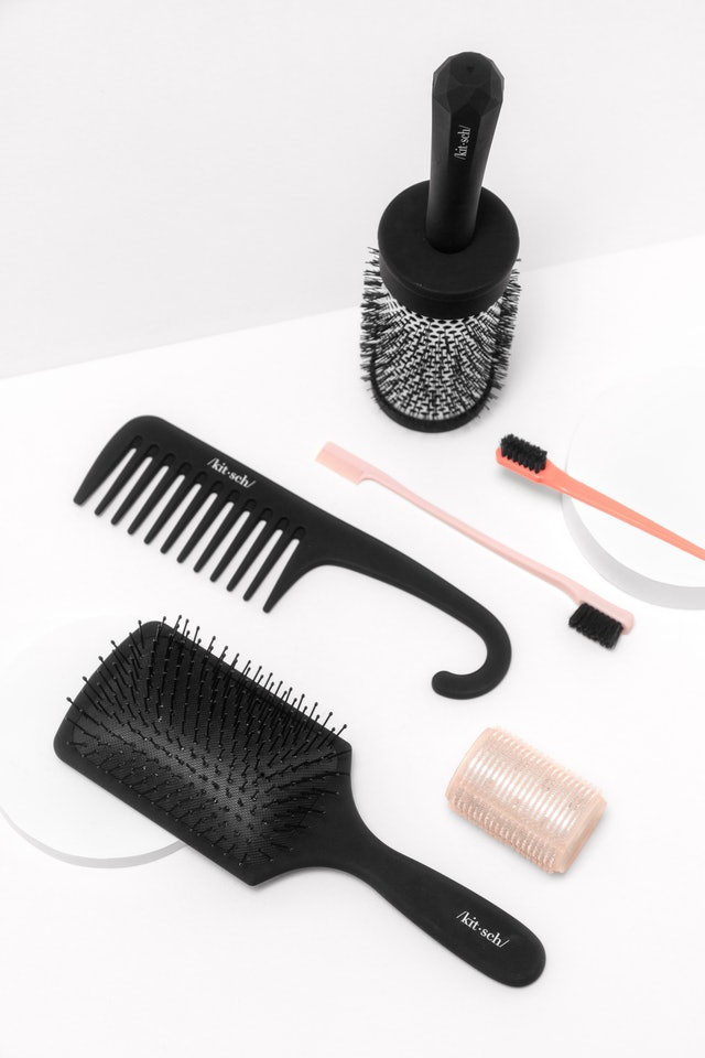 Brush and comb from the Kitsch Consciously Created Hair Brush Collection.