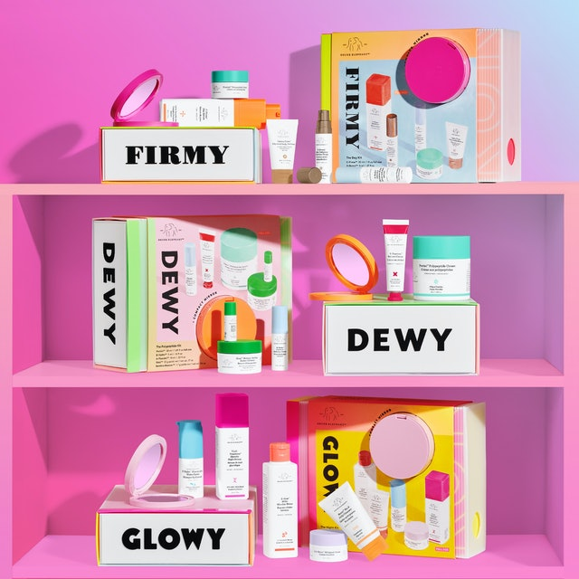 Drunk Elephant's newest products are holiday boxes with roughly five to six products in each.
